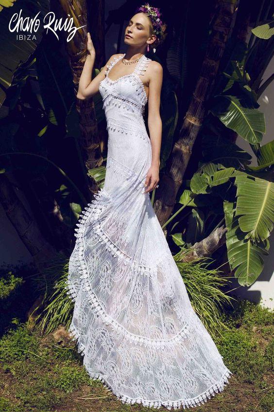 Puntillas y bordados para la novia bohemia