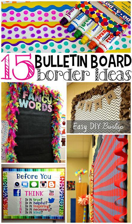 Creative bulletin board borders for the classroom fancy for Creative bulletin board ideas