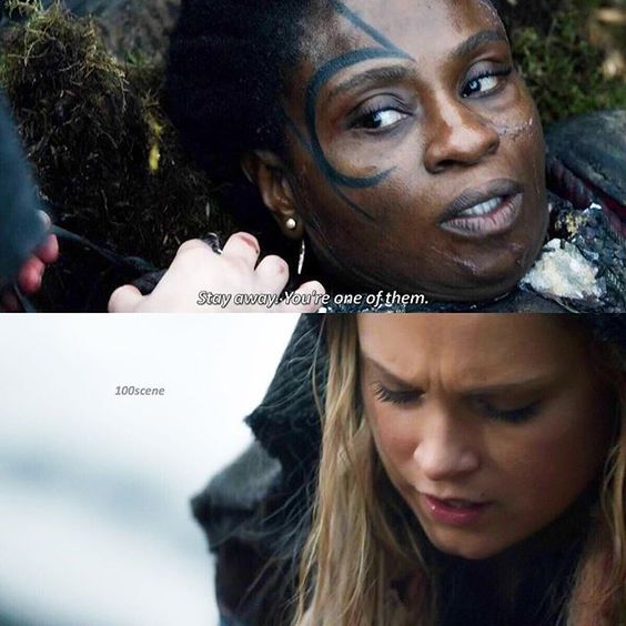 "#The100 3x05 ""Hakeldama"" - Indra and Clarke"