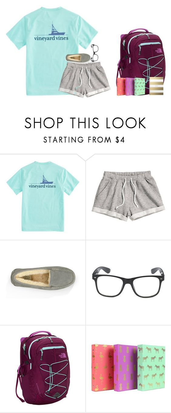 """""""Hannah's contest day 3 (hair in items used)"""" by pineappleprincess1012 ❤ liked on Polyvore featuring Vineyard Vines, H&M, UGG Australia and The North Face"""