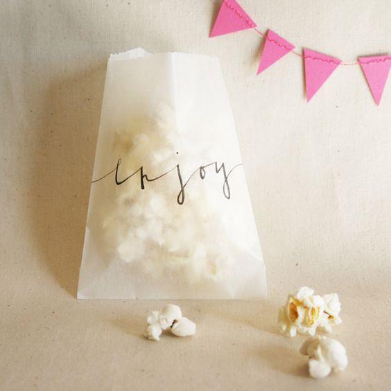 Glassine Bags w/ Lettering