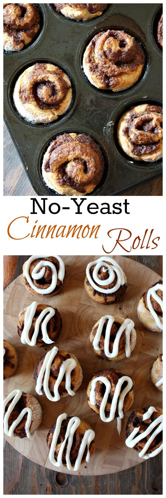 No Yeast Cinnamon Rolls   Cinnamon rolls, Cinnamon and Recipe