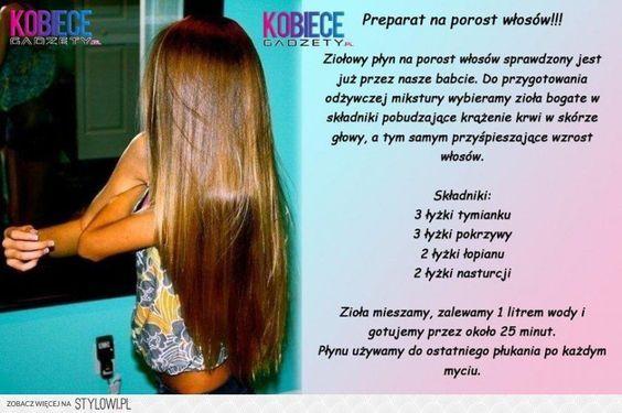 domowe produkty na porost włosów