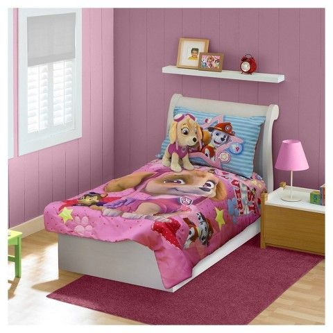 Paw Patrol Skye Pink Bedding Set Toddler 4pc