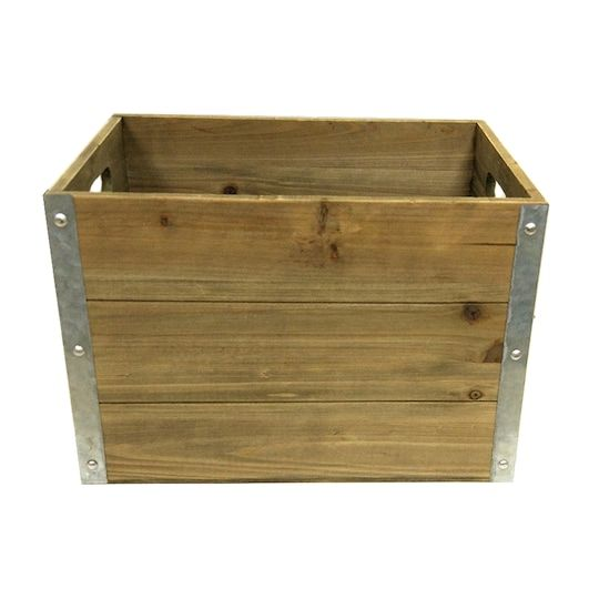 Shop For The Large Wooden Crate By Ashland At Michaels With Images Large Wooden Crates Wooden Crate Wooden Crates