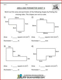 Area and Perimeter Sheet 4, area and perimeter of rectilinear ...