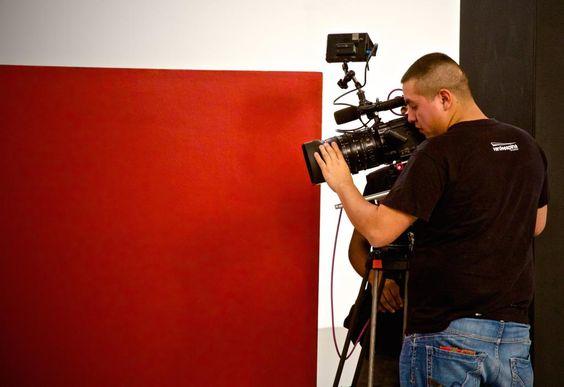 Filmando en el foro. Cámara Sony F3 con lente compuesto.