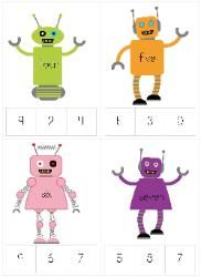 Robot Preschool Packs