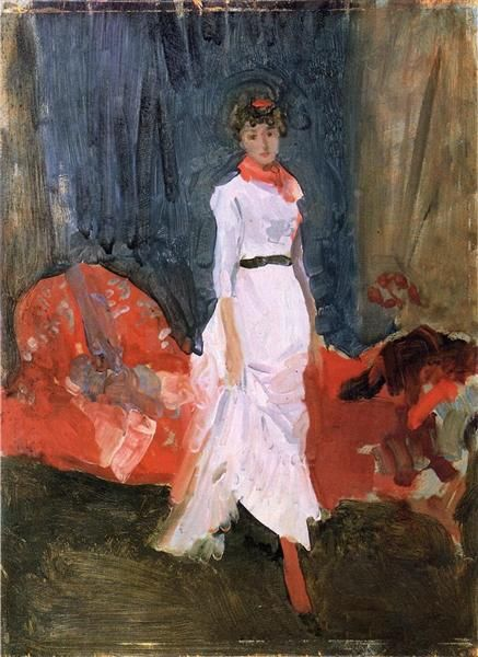 Arreglo en rosa, rojo y púrpura, 1883-1884