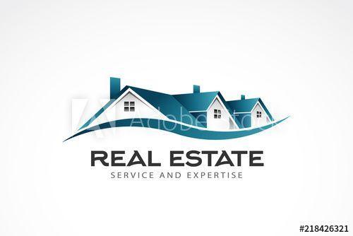 Real Estate Houses Logo Vector Illustration House Homelogo Estate Real Architecturelogo Builderlogo Real Estate Houses Real Estate Real Estate Logo