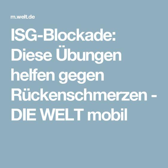 ISG-Blockade: Diese Übungen helfen gegen Rückenschmerzen - DIE WELT mobil