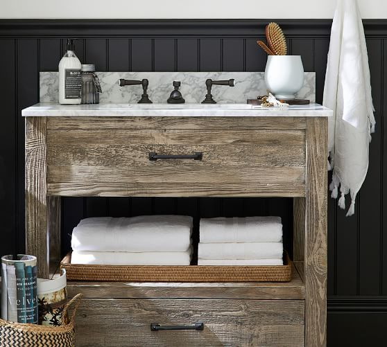 Paulsen Reclaimed Wood Single Sink Vanity Ndash 36 Quot 8203 In 2020 Reclaimed Wood Vanity Basement Decor Finishing Basement