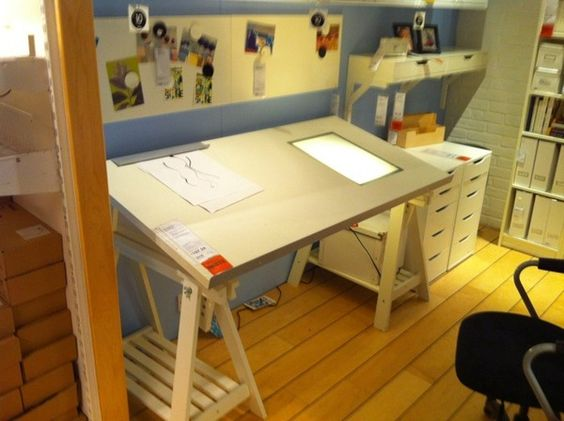 drawing table with light box ikea drafting table with. Black Bedroom Furniture Sets. Home Design Ideas