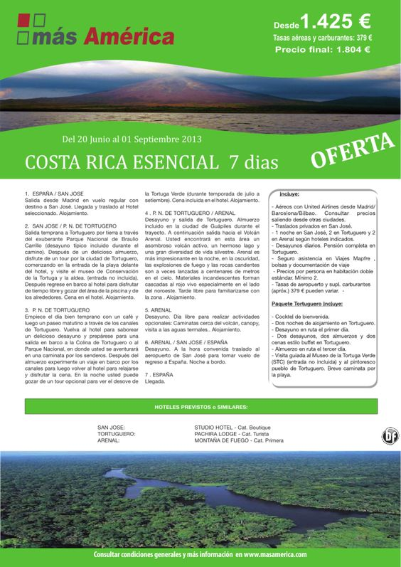 COSTA RICA 7 dias. San José / Tortuguero / Arenal - http://zocotours.com/costa-rica-7-dias-san-jose-tortuguero-arenal/