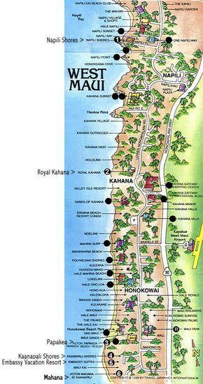 Aston Kaanapali Ss Hotel Map Of