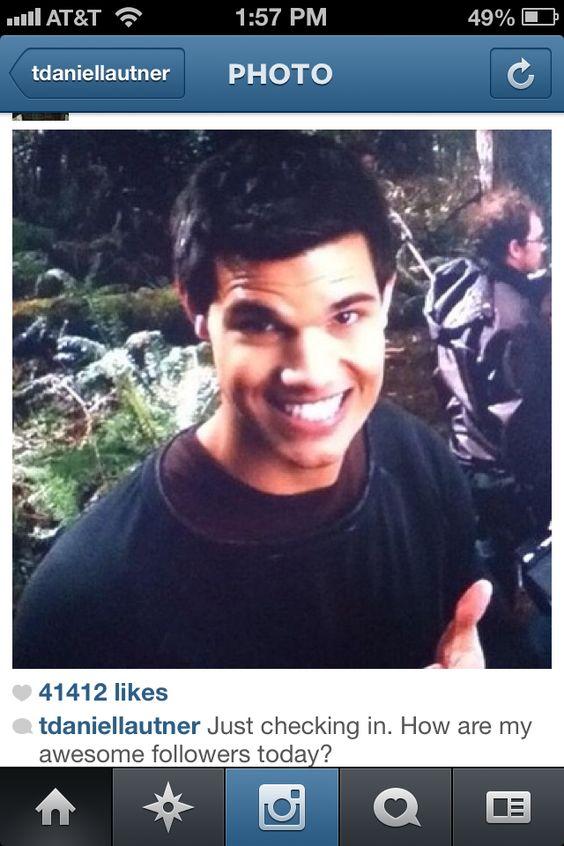 Taylors, Instagram and... Taylor Lautner Instagram