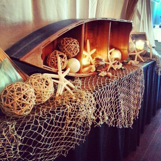 Nautical Decor Centerpieces: Nautical Wedding Reception Ideas