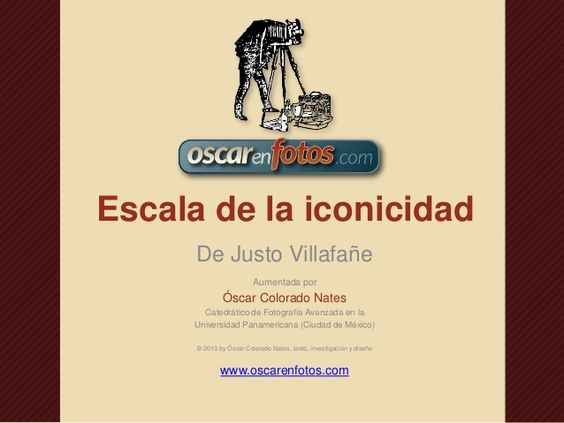 Escala de la iconicidad by Oscar En Fotos via slideshare