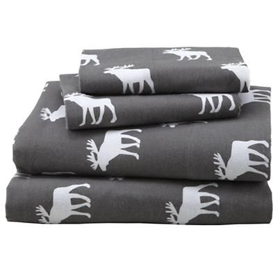 Boys Sheet Set: Grey Moose Pattern Sheets in September 2012 from The Land of Nod