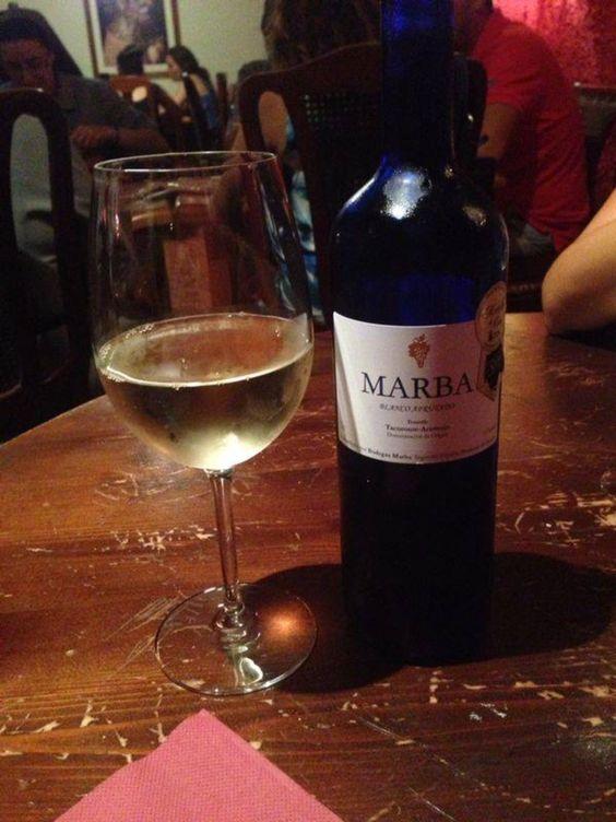 El mejor de los vinos . UN blanco afrurado MARBA