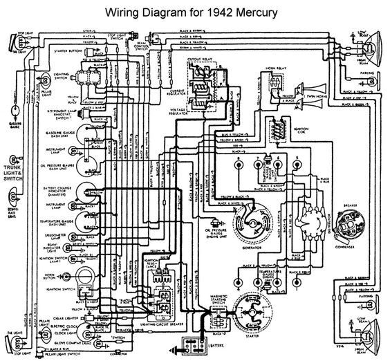 wiring for 1942 mercury wiring pinterest rh pinterest co uk Mercury Outboard Motor Wiring Diagram Mercury 200 Outboard Wiring Diagram
