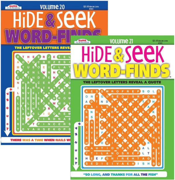 Hide and Seek Word Finds Puzzle Book Case Pack 48
