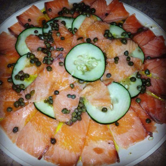#Carpaccio de #salmón #homemade