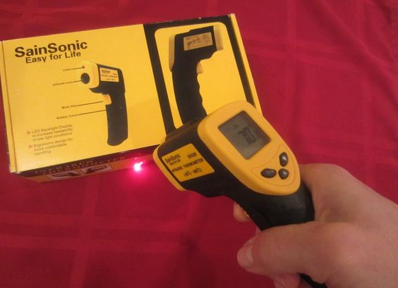 infrared thermometer for tempering chocolate