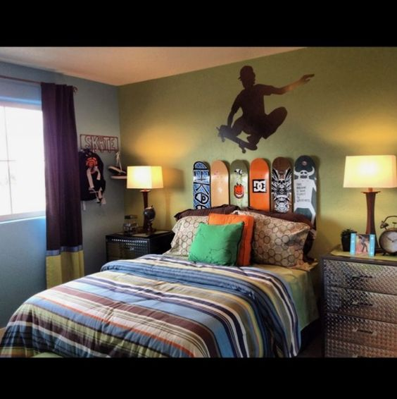 Skateboard Bedroom Ideas