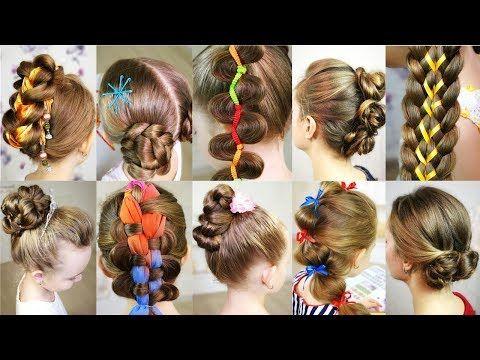10 Cute 5 Minutes Hairstyles For Busy Morning Quick Easy Hairstyles For School Youtu Pelo De Verano Peinados Faciles Para Cabello Corto Trenzas Con Cinta