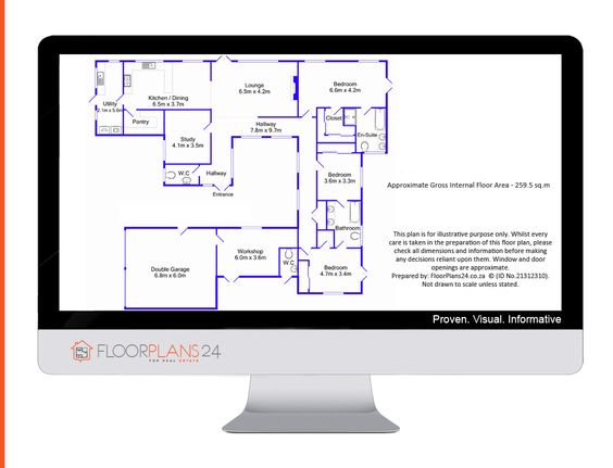 Enhanced 2D Colour Layout. Add value to your website and property particulars by providing floor plans in your corporate colours.   Brand your floor plans a look your customers can trust.  There's no contractual tie-in or monthly subscription.  FloorPlans 24 delivers a solution that works for YOU – Talk to us…
