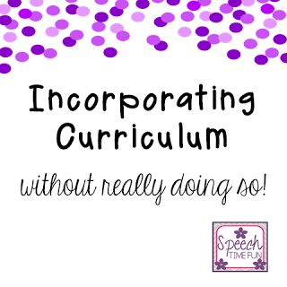 Incorporating curriculum in speech and language therapy