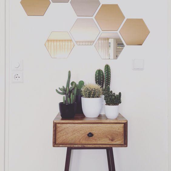 Honefoss mirrors - Ikea Skybox sidetable - Bepure: