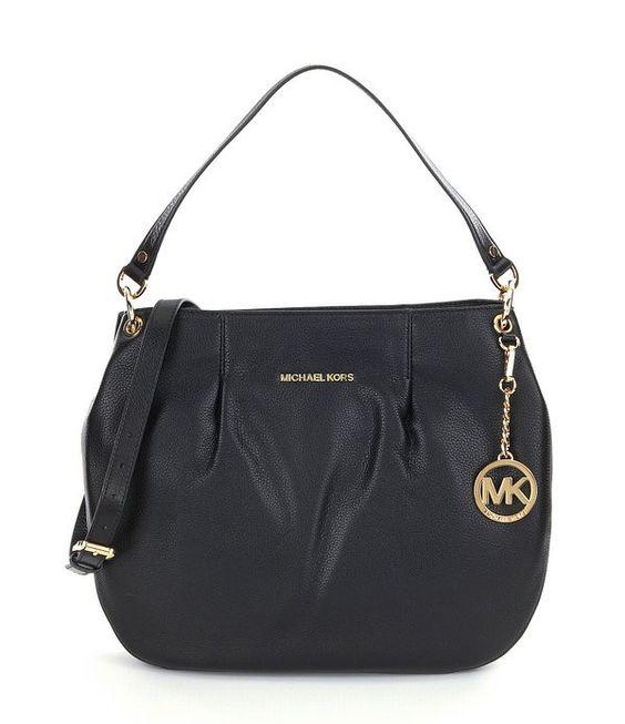MICHAEL Michael Kors Bedford Black Leather Large Convertible Shoulder Bag