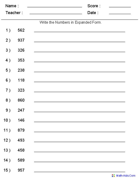 Expanded Form Worksheets Worksheets math labs – Decimal Expanded Form Worksheets