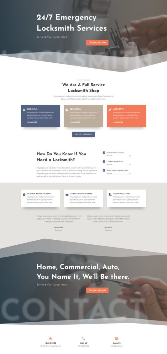 The Locksmith Layout Pack Is Perfect For Any Website In The