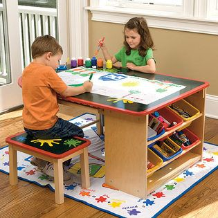 Make a fun area for your kids in the home office or nearby. That way kids are less likely to be bored and you can keep an eye of them while you work at home.: