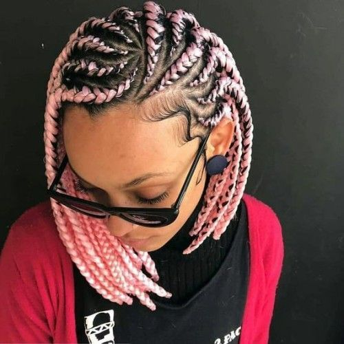 Cute White Girl Box Braids Hairstyles Ideas To Boost Your Look New Natural Hairstyles Bob Braids Hairstyles Braided Hairstyles African Braids Hairstyles
