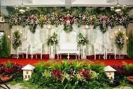 Bunga Taman Pelaminan Pernikahan Resepsi Bunga Perkawinan