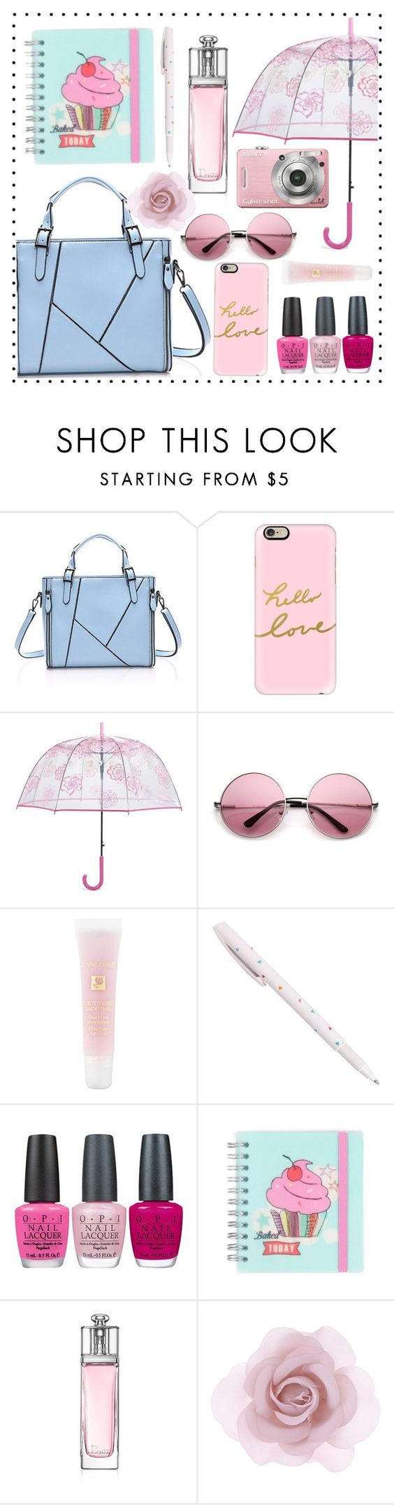 """tote bag"" by anchilly23 ❤ liked on Polyvore featuring Casetify, Vera Bradley, Lancôme, OPI, Christian Dior, Accessorize, women's clothing, women's fashion, women and female"