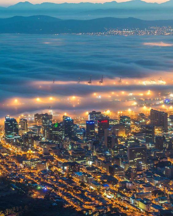 foggy Cape Town