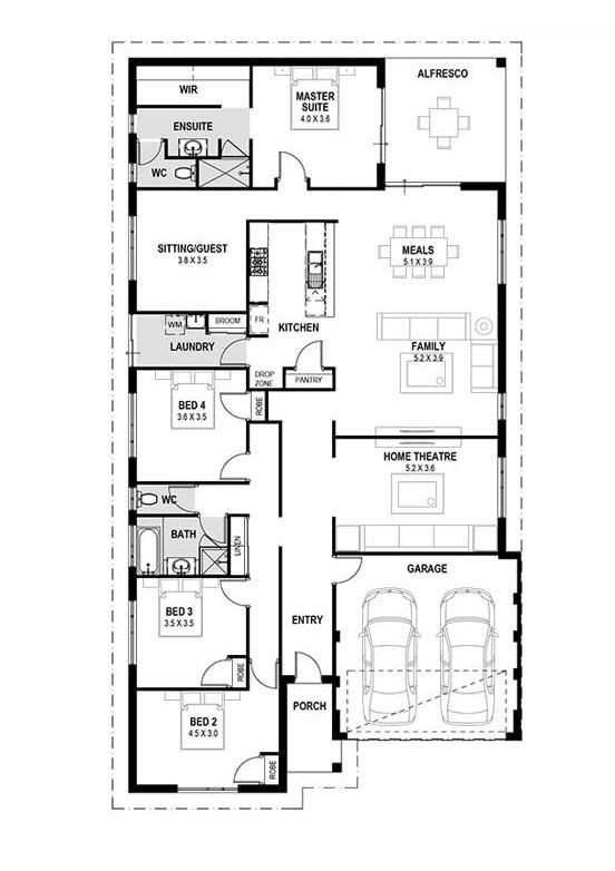 My Montego Bay House Designs Perth Single Storey New Home Design Plan Perth Single Storey House Plans Four Bedroom House Plans Family House Plans