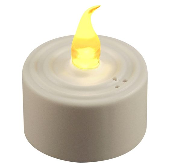Remote Control LED Lights - Flickering Amber (10 Count)