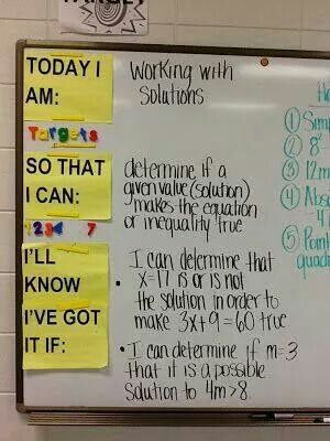 "Student Objective. I like this soooo much better than ""we will, I will statements!"""