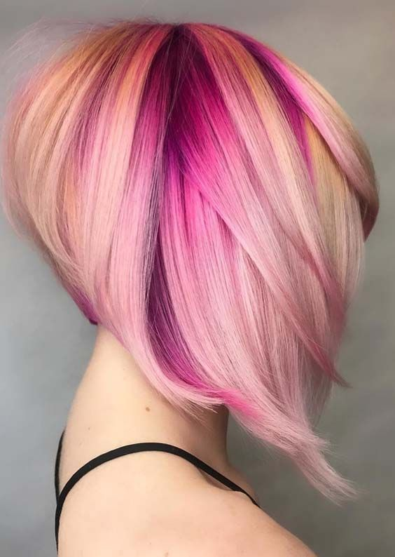 Image Result For Blonde Hair Pink Tips Hair Color Pink Hair Styles Short Hair Styles