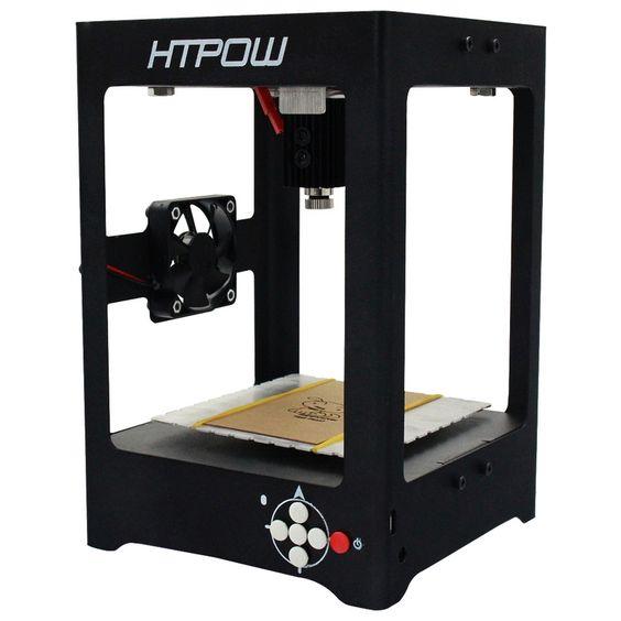 Купить товарHTPOW Laser Engraving Machine Laser Engraver Box 500mw Household DIY Miniature Mini USB Printer Equipment vs Supercarver http://ali.pub/208e9