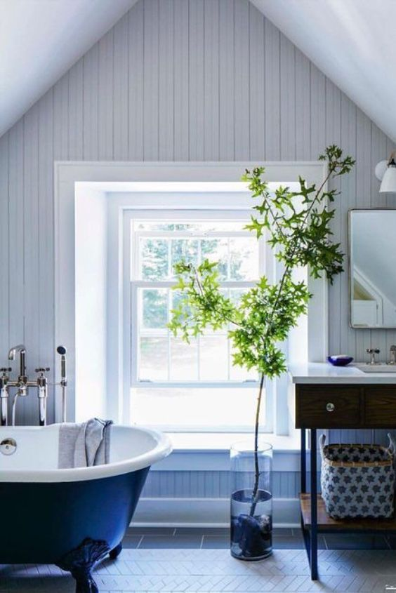 Feeling Blue Elle Decor Bathroom Design Rustic Bathroom Decor Best Bathroom Designs Rustic Bathrooms