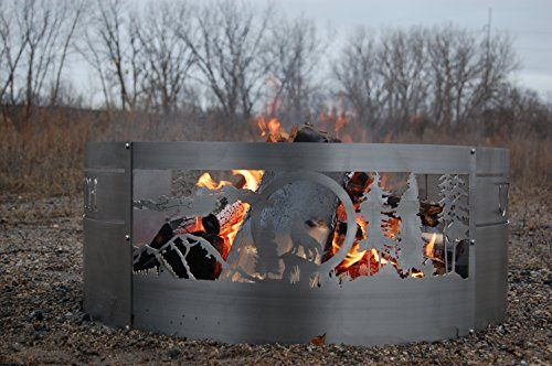Cheap 36 Stainless Steel Fire Ring Wolf Scene With Images Outdoor Fire Fire Pits For Sale Outdoor Propane Fire Pit
