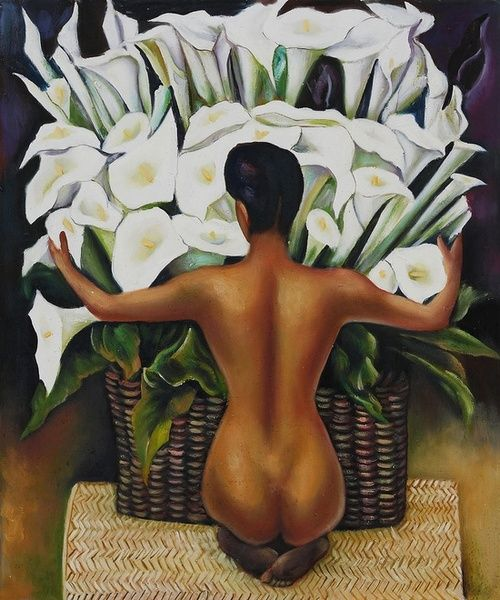 Diego Rivera, Nude with Calla Lilies. For many years, this has been my favorite Diego Rivera painting. ツ ღ