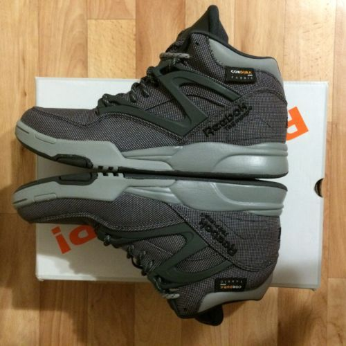 reebok pump omni lite cordura m42817 gravel black grey cord uk 7 us 8 adidas pinterest. Black Bedroom Furniture Sets. Home Design Ideas